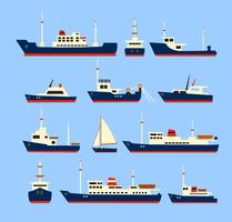 Ships set. vector