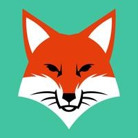 Fox gezicht logo vector pictogram