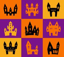 Print Halloween silhouettes  vector