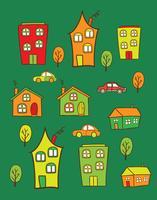 casas coloridas vetor