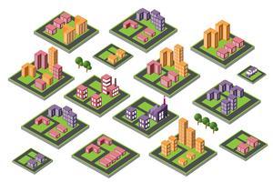 ensemble d'icônes maison isométrique