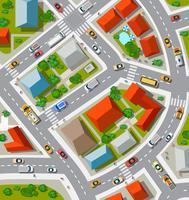 Vista superior do urbano