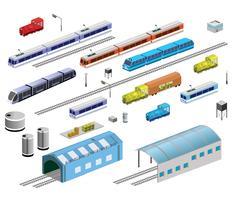 Equipamentos ferroviários vetor