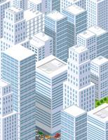Una grande città di isometrica urbana