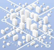 Isometrische kaart van de stad