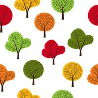Trees seamless vector