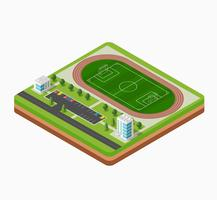 Isometric football stadium