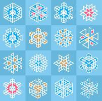 Christmas snowflake pattern
