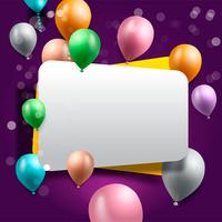 birthday celebration background, birthday balloon wallpaper vector