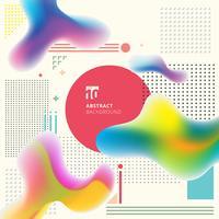 Abstracte moderne kunst geometrische plastic kleurrijke vormen achtergrond met platte minimalistische