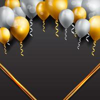 Celebration background with balloons vector