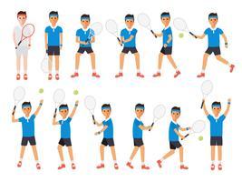 Tennisspieler, Tennissportler in Aktion.