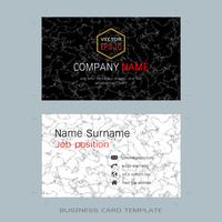 Modern designer business card layout templates.