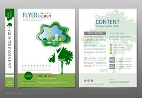 Covers book design template vector, Green energy concept.