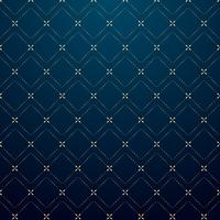 Abstract geometric squares gold dash line pattern on dark blue background luxury style.