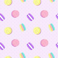 Macaron seamless pattern with dot background. Vector Illustration