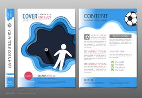 Covers book design template vector, Sport  football club concept.
