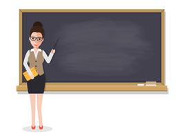Oberlehrer Unterricht im Klassenzimmer.