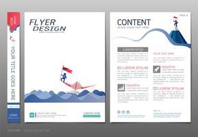 Omsluter bokdesign mall vektor, Business startup koncept.