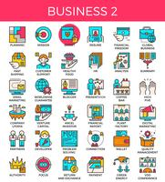 Business essential line icons
