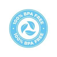 100% ícone livre de BPA. vetor