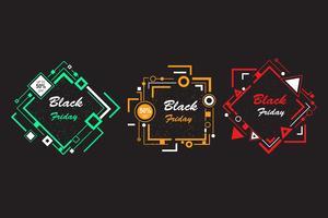 banner de viernes negro de forma abstracta