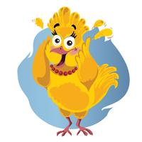 Scared Turkey Funny Vector Cartoon - Illustration of Thanksgiving bird in panic