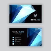 blått polygonalt visitkort