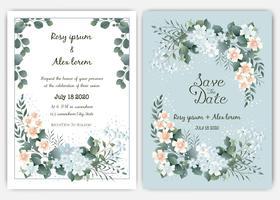 Invitation de mariage de verdure, invitation de mariage de modèle eucalyptus.