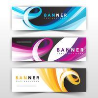 wavy banner collection design
