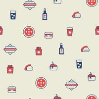 Fast food seamless background vector