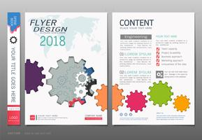 Covers book design template vector, Gears info graphic concepts.