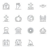Icône linéaire Halloween. Ensemble de pictogramme d'icônes fine ligne.