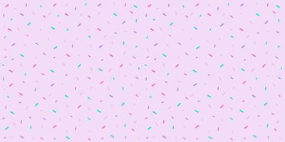 Saupoudrer le motif sans soudure de couleur pastel pour fond de bonbons, impression de tissu pour bébé, papier peint de boulangerie, textile, papier d'emballage sucré, bannière web de dessert et conception de jolie carte