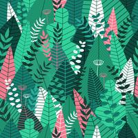 Seamless pattern with leaves. Tropical pattern background for printing and web banner design. Vector illustration