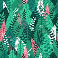 Modèle sans couture avec des feuilles. Fond tropical pour l'impression et la conception de bannières web. Illustration vectorielle
