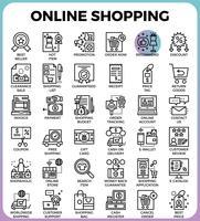 Icônes d'achats en ligne