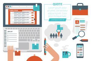 Online jobbsökande koncept