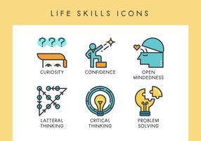 Iconos de habilidades de vida