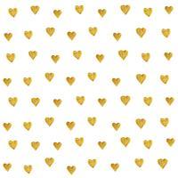 Sem emenda dourado do teste padrão do coração isolado no fundo branco criado pelo vetor. O estilo retro do brilho do coração do ouro para o papel de parede, tela imprime, álbum de recortes, matéria têxtil e fundo da bandeira da Web.