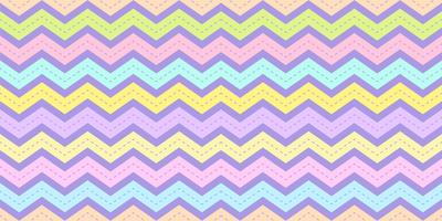 Chevron stripe pattern seamless in pastel color. Zig zag rainbow texture background for kid fabric print, wallpaper, wrapping paper, textile, baby background, banner and card design.