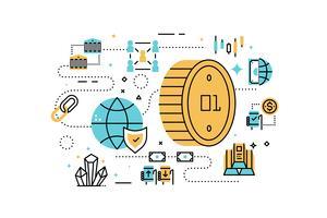 Bitcoin and finance illustration