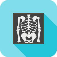 Skeleton Flat Long Shadow Icon