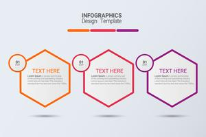 Three steps infographics. Vector business template