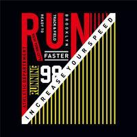 Atletische sportmarathon vergroot je snelheid typografie