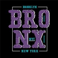 vecteur de t-shirt conception bronx nyc typographie