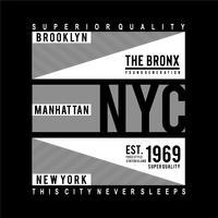 Brooklyn-Typografie-Designt-stück für T-Shirt