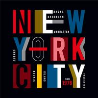 New York City - modern typography for design clothes, athletic t-shirt.