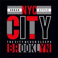 New York City tee element, vintage grafisk t-shirt tryck vektor illustration design