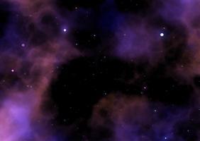 Illustration av en galax rymdsky med stjärnor och nebula